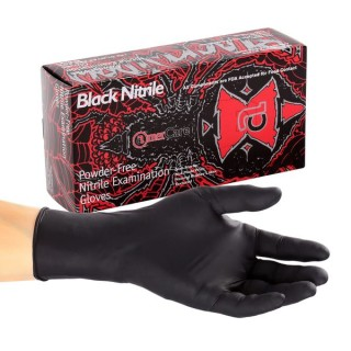 Black Widow Nitrile Exam Glove Size Medium